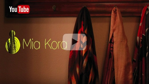 Mia Kora video - scarves, bridging the gap between Art and Fashion.